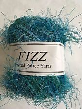 Crystal Palace Fizz Eyelash Yarn #9529 Scuba Dive - Turquoise Blues Greens 50gr