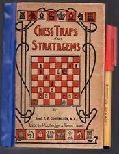 Vintage CHESS TRAPS & STRATAGEMS Rev E E Cunnington