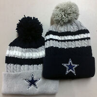 Dallas Cowboys Pom Pom Beanie Skull Cap Hat Embroidered DAL