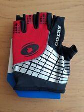 Bicycle gloves. windproof, anti-slip, anti-shock, fingerless gloves. Lycra red.