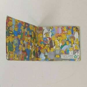 Simpsons Mighty Wallet Design, Recycled Paper Wallet Used - Loot Crate Exclusive