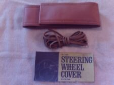 2 Vtg Hollywood Accessories Steering Wheel Cover - Smooth Tan BUY 1 GET 1 FREE