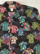 RJC Hawaiian Shirt w/ Hawaiian Shirts!! Men's  XL Black Multi Colors Fun Relaxed