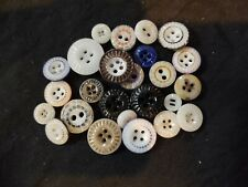old antique china buttons colored pie crust shape good condition