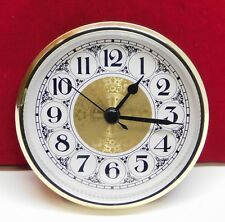 "Complete Clock Insert Fit Up Movement 3 1/2"" Diameter Fancy White Dial GWFA3.5"