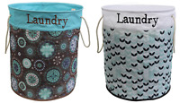Round Folding Laundry Bag Clothing Washing Storage Bag Bin Hamper Pattern Large