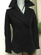 Denim & Supply by Ralph Lauren Jersey Pea Coat with Embroidered Sleeve Detail