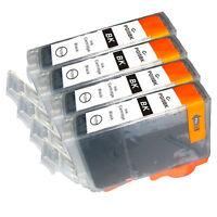 4 PK INK NON-OEM CANON PGI-5BK BLACK IP3300 IP3500 IP4200 IP4300 IP4500 IP5200
