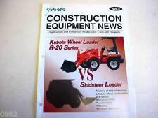 Kubota #3 Construction Equipment News