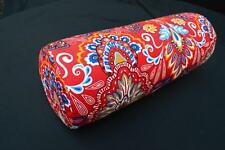 LF811g Red Yellow Green Blue Cotton Canvas Neck Yoga Bolster Case Pillow Cover