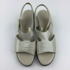 SAS Suntimer Women 8.5 N Taupe Leather Slingback Sandal Comfort Shoe