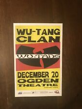 Original Wu Tang Clan 2007 Concert Promo Poster Ogden Theatre