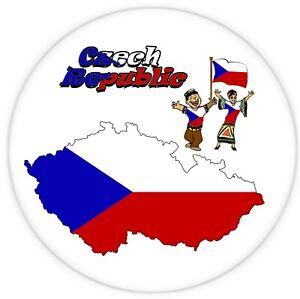 CZECH REPUBLIC - LARGE SOUVENIR NOVELTY FRIDGE MAGNET / MAP / FLAG  / GIFTS