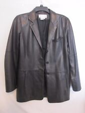 VERY Gently Worn ONCE! - WORTH Womens BUTTERY Soft Black Leather Jacket Size 10