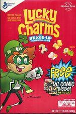 General Mills Lucky Charms Free DC Comic Promo Green Lantern JLA Empty Box Flat