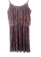 Audrey 3+1 Size Small Slinky Sexy Mini Dress w/ Slip Gold Black Metallic
