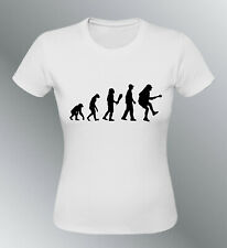 Tee shirt homme evolution femme Rock AC/DC humour human rock Angus Young ACDC