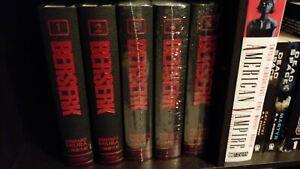 Berserk Deluxe Edition Volumes 1-5 English Hardcover Kentaro Miura Manga Books