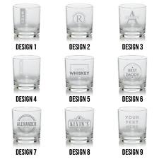 Personalised Laser Engraved Whiskey Tumbler Glass Wedding Gift Birthday Xmas