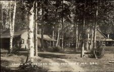 Portage ME Camps in Woods c1930s Real Photo Postcard