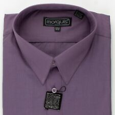 """Solid Purple 16 1/2"""" New Old Stock Dress Shirt by Marquis"""