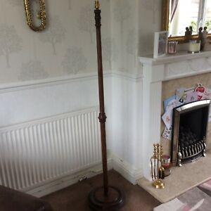 VINTAGE WOOD STANDARD LAMP