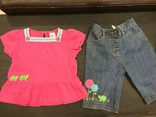 New Gymboree turtle FRIENDS Size 2 12 18 24 Months Shirt top pants jeans 55.00