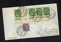 1931 Marseille a Shanghai China  France Cover to USA via SS Chennonceaux