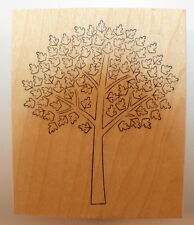 Memory Box Oroville Tree Leaves Branches Wood Mounted Rubber Stamp