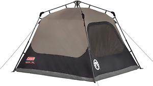 Coleman Cabin Tent Instant Setup Brown Black 4 Person Steel Weatherproof NEW