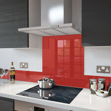 Gloss Red - Glass Splashback UPSTAND In 140mm X 100mm Graded Goods