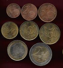 Monaco 2002 full set of 8 Euro unc coins