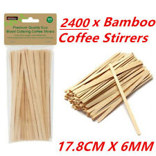 100 Wooden Craft Stick Paddle Pop Popsicle Coffee Stirrers Ice Cream Sticks 17cm