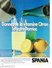 PUBLICITE ADVERTISING 115  1984  SPANIA  les vitamines Citron avec Perrier