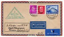 2M Sa Overprint on Zeppelin Flight 1930 Friedrichshafen - Stockholm Sweden