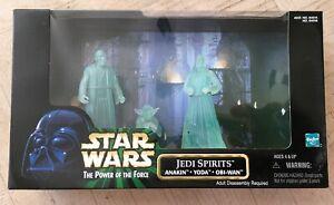 NEW Star Wars POTF Jedi Spirits 3-Action Figure Set FACTORY SEALED   Yoda Anakin