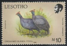 """Lesotho 1988 """"Birds"""" M10 Crowned Guinea Fowl (MH)"""