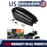 Glossy Motorcycle 9L 2.4GAL Fuel Gas Tank Cap Switch For Honda CG125 Cafe Racer