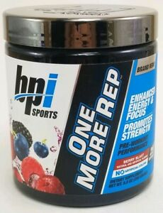 bpi One More Rep Pre-Workout 8.8 oz 25 Servings Berry Blast Exp 03/2022 Sealed