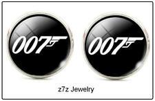 JAMES BOND 007 Cufflink Set - emblem secret agent Hollywood jewelry z7qq