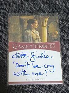 2020 Game of Thrones Kate Dickie as Lysa Arryn Inscription Auto Card /10 - /25