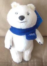 """2014 Sochi 8"""" Polar Bear Olympic Plush Mascot"""