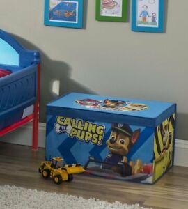 Paw Patrol Toy Box Storage Trunk Lightweight Organizer Kid Furniture Pups Canvas