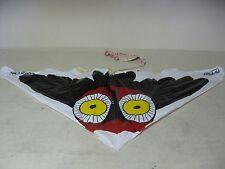 VINTAGE BLACK RED YELLOW WHITE HI FLIER DELTA OWL PLASTIC  FLYING KITE