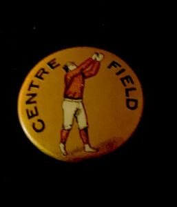 "ANTIQUE BASEBALL 1890's ""CENTER FIELD""~3/4"" PIN~WF MILLER PARK ROW NYC  INSERT"
