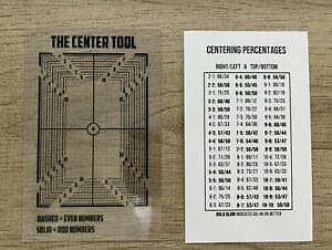 THE CENTER TOOL Card Grading - Centering Tool NEW 2020! PSA BGS SGC!