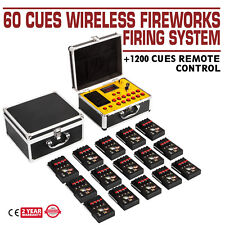 2019New+60 Cues Fcc Fireworks Firing System+1200Cues Ce Wireless Remote Control