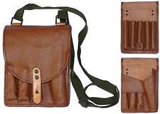 1970s Soviet Bloc Army Flare Gun Shoulder Bag signal pistol leather canvas NOS