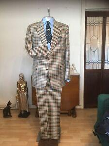 DAKS House Check Vintage Mens Suit