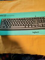 Logitech keyboard and mouse corded, MK120 Combo, Plug and Play Brand New